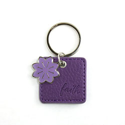 Purple Faith Keyring