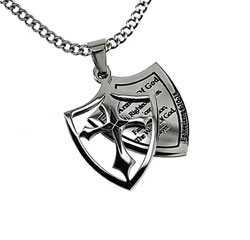 Armor of God 2 Piece Shield Necklace