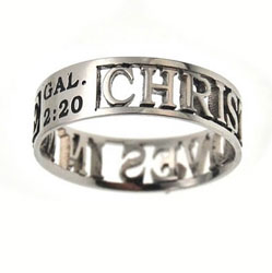 Christ in Me Silhouette Ring