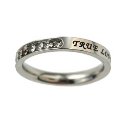 True Love Waits Birthstone Princess Cut Ring