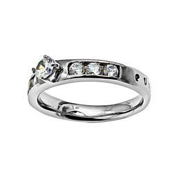 Purity Princess Solitaire Ring