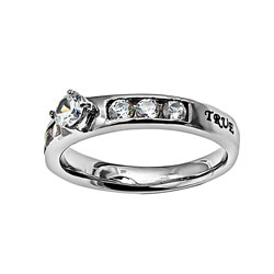 True Love Waits Princess Solitaire Ring