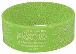 Green Plans Silicone Bracelet