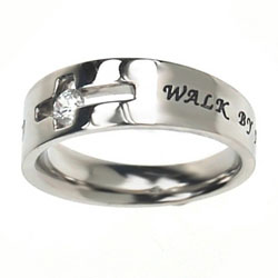 Walk By Faith Solitaire Ring