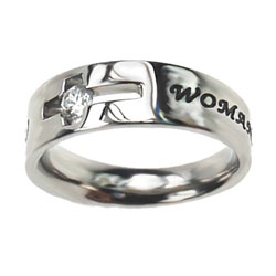 Woman of God Solitaire Ring