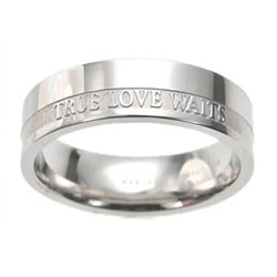 Women's True Love Waits Ring Band