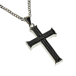 Armor of God Black Iron Cross Necklace