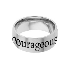 Courageous - His Word Ring his word ring, courageous ring, Joshua 1:9 ring,  scripture ring, scripture reference ring