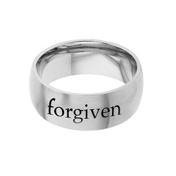 Forgiven - His Word Ring his word ring, forgiven ring, 2 Chronicles 7:14 ring,  scripture ring, scripture reference ring
