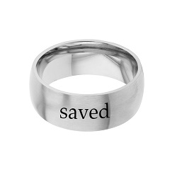 Saved - His Word Ring his word ring, saved ring, Mark 16:16 ring,  scripture ring, scripture reference ring