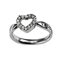 True Love Waits Open Heart Ring